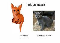 Llavero Piel Hombre Mujer Gato Azul De Rusia