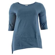 ENNA Naturmode Damen Longshirt 75211 Blau / 44 – 46 / Shirt, Plussize