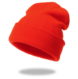 Beanie Hat Cap Solid Plain Knit Ski Cuff Winter Warm Slouchy Men Women