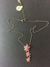 A0804 A Pilgrim Copper Toned Necklet with a triple flower head drop