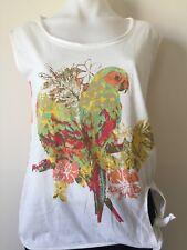 Women Rivers Summer Sleeveless Top Parrot Bird Size 8 New