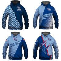 Tennessee Titans Football Hoodies Men's Sweatshirts Pullover Hooded Jacket Coat