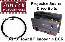 Bell & Howell Filmosonic DCR belts. 2 belt set (motor belt, top belt).