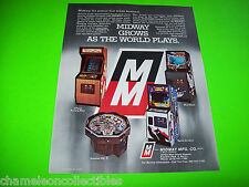 SPACE INVADERS + 3 By MIDWAY 1978 ORIGINAL NOS VIDEO ARCADE GAME SALES FLYER