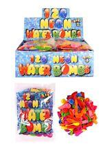 120 x Neon Water Bombs Outdoor Activity Fun Kids Summer Garden Water Fun Game