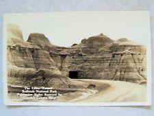 Rppc S.D. Lower Tunnel Badlands Nat'L Park South Dakota Real Ekkp Photo Postcard