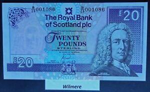 Royal Bank of Scotland £20 (P354d) 2000 B/29 1st Prefix  *UNC*