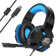 TeckNet Gaming Headset, USB 7.1 Channel Surround Sound Over-Ear Gaming Headband