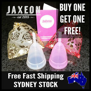 2 x 100% Soft Medical Silicone Cup Menstrual Cups Period Tampon Pads Replacement