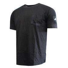 Camisas y tops de mujer de manga corta negros adidas