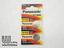 2 Pieces New in Package Panasonic CR1620 1620 ECR1620 Coin Cell Battery 3V