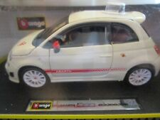 1/24 Bburago Fiat 500 Abarth diecast (white) - NEW