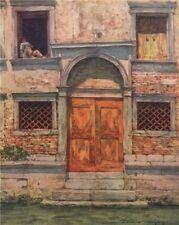 VENEZIA. 'The Orange Door' by Mortimer Menpes. Venice 1916 old antique print