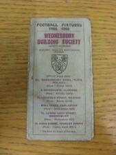 1965/1966 Midland Football Fixtures: Fixtures Booklet - Wednesbury Building Soci