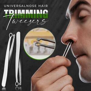 Universal Nose Hair Trimming Tweezers Steel Eyebrow Nose Hair Cut NICE