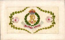 World War 1 Regimental Silk. Military Police. Fabrication Francaise.