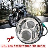 "Motorrad 12V 7"" DRL Hi/lo LED-Projektion Scheinwerfer für Harley Davidson Jeep"