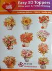 Easy 3D Die Cut Card Toppers Flowers Vases Roses Water Lillies Birds 10 Designs