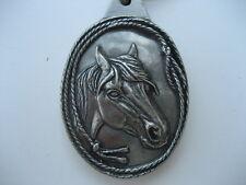 HORSE HEAD PEWTER  KEY RING (K18)