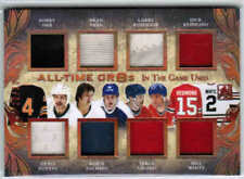 17/18 LEAF IN THE GAME USED ALL-TIME GR8S JERSEY /30 ORR PARK ROBINSON SALMING +