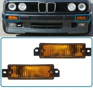 NEW BMW 3 Series E30 From 1987 FRONT Turn Signal Light Indicators Set LH + RH