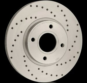 National Drilled Brake Discs (Pair) PBD1589F Fits Volvo