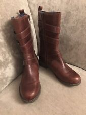 Clarks Brown Biker Boots National Sugar Size 3.5