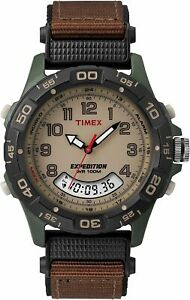 Timex Expedition Men's T45181 Quartz Watch Beige Dial Analogue Display Rugged