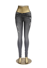 Flying Monkey Jeans L8198 Gray Destroyed Mid-Rise Skinny 24 25 26 27 28 29 30 in
