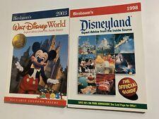 Steve Birnbaum Disneyland Guidebook 1998, DisneyWorld 2003 Near Mint