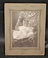 Victorian Antique Cabinet Card Photo of Adorable Baby