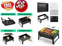 Barbecue Charcoal Smoker Grill Portable BBQ for Outdoor Cooking Camping Small