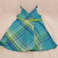 Dress Blue Green Plaid Size 18 Months Girls Faded Glory Sleeveless Summer