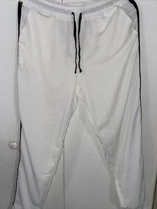 WOMEN LULAROE JOGGERS LOUNGE PANTS-JAX-WHITE POLY SPANDEX-SIZE LARGE-NWT