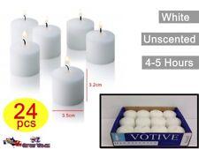 24x Unscented White Pillar Candle Small Votive Home Wedding Decor Event Cnvt28w