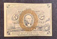 1863 5 Cent Fractional Currency Us Paper Money Note Second Issue F1232