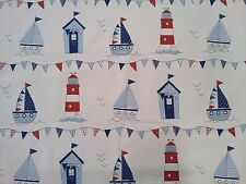 Fryetts Maritime Blue Seaside Curtain Upholstery Craft Fabric