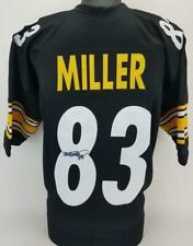 Heath Miller Signed Pittsburgh Steelers Custom Jersey TSE COA