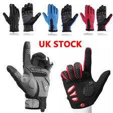 Rockbros Winter Outdoor Cycling Fullfinger Gloves Windproof Fleece Thermal Mitts