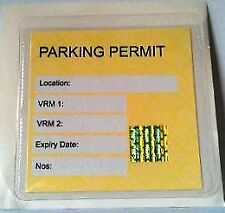 2 x  Self Adhesive Backed Windscreen Ticket Holder for Parking Permit 100X100mm