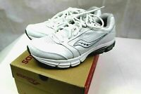 New SAUCONY Athletic Sneakers Mens size 9 Medium white and silver Power grid
