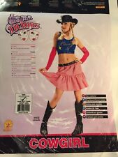 CowGirl Square Dance Hillbilly country Adult Woman Halloween Costume XS 2-4