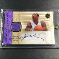 KOBE BRYANT 2006 UD ULTIMATE COLLECTION AUTOGRAPH ON-CARD AUTO JERSEY /75 LAKERS