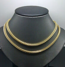 10K Men's Yellow Gold Franco Chain With Diamond Cuts 30 Inches  Long 26.1 Grams