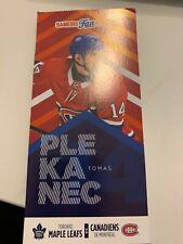 unused season hockey ticket Canadiens Thomas Plekanec 9 february 2019 vs Toronto