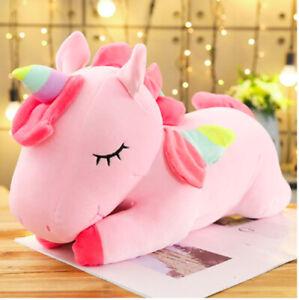 Pink Horse Pillow Cute Unicorn Animal Pillow Toy Soft Stuffed For Children 35 cm