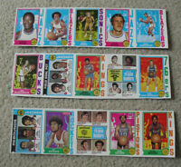 Rare Lot of 3 Uncut Sheet Panels 1974-75 Topps Basketball Cards with Stars