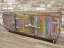 Retro Vintage Industrial sideboard Fridge style 3 door Sideboard 145cm
