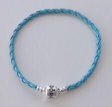 1PCS Light Blue Leather Bracelets/Bangle Fit 925 European Charms/Beads PL09