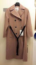 Zara 2017 STUDIO Trenchcoat trench coat Mantel Zweireihig rosa braun XS-S Wolle